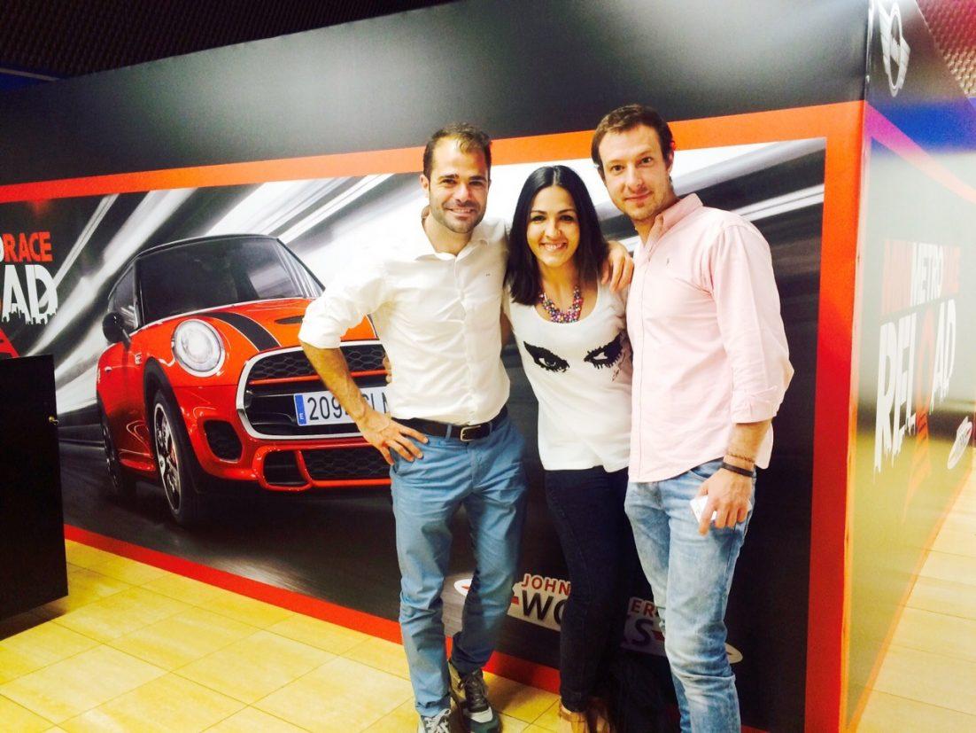 Jesús Oliver, Ángela Villarejo y Juan Merodio